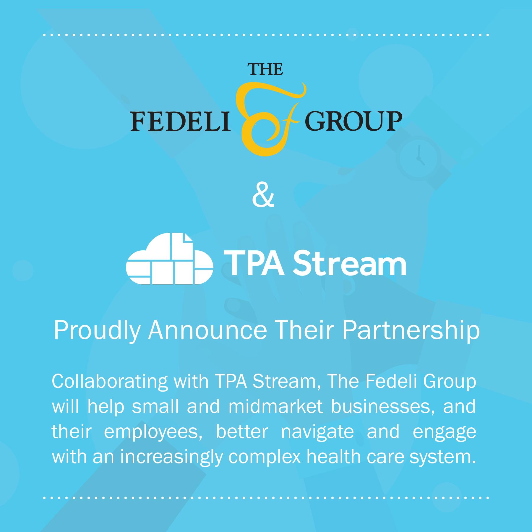 Fedeli And TPA Stream Announcement Graphic 1